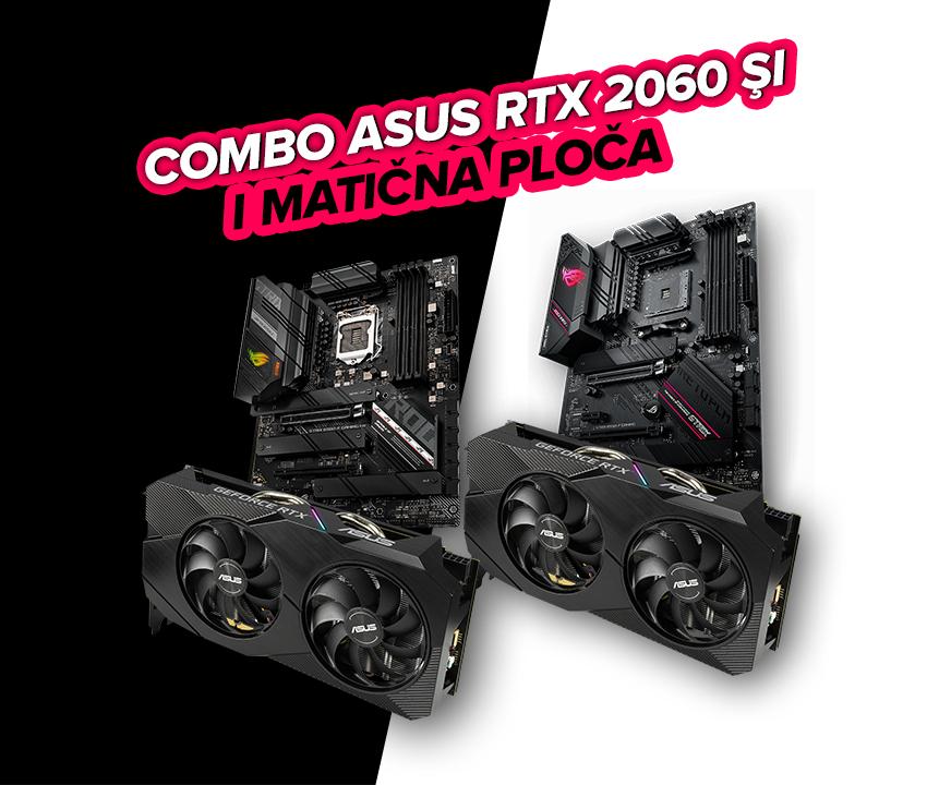 Combo Asus RTX 2060 i matična ploča